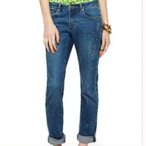 C Wonder paint splatter slim boyfriend jeans